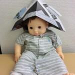 折り紙の兜の簡単な折り方!新聞紙1枚使えば頭にかぶれるよ!