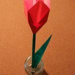 折り紙のチューリップ折り方!立体で簡単なキレイに折れる作り方は?