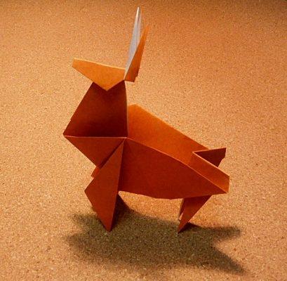 ハート 折り紙:トナカイ折り紙作り方-recruit-box.net