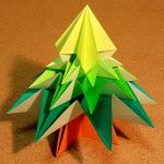 クリスマスツリーの折り紙の折り方!立体で豪華な作り方はコレ!