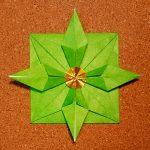 クリスマスリースの折り紙の折り方!簡単でかわいいリースの作り方!