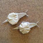 かたつむりの折り紙の立体の折り方♪雨の日の室内遊びに!