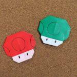 スーパーマリオのキノコの折り紙の折り方!意外にかわいいゾ!