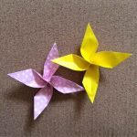 花風車の折り紙の折り方!コマみたいに回せて遊べるよ!