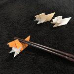 犬の折り紙のかわいい箸置きの折り方!誕生日会や来客時に便利