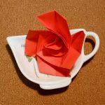 折り紙のバラの簡単な折り方♪立体でも難しくない作り方はコレ!