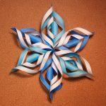 折り紙の雪の結晶の作り方!簡単で立体の折り方はコレ!
