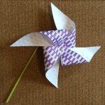 折り紙の風車の簡単な折り方♪ストローを使って遊ぼう!