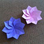 折り紙のダリアの折り方!1枚で花びら8枚のかわいい作り方♪